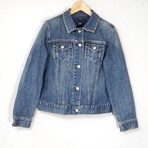 Vintage Gap Stretch Jean Jacket Denim Distressed L
